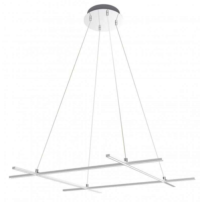 Lampy-sufitowe - wyjątkowa srebrna lampa wisząca led andros 70x70 40w 4000k apeti a0020-340 candellux firmy Candellux