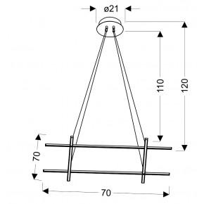 Lampy-sufitowe - wyjątkowa srebrna lampa wisząca led andros 70x70 40w 4000k apeti a0020-340 candellux