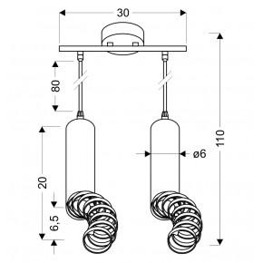 Lampy-sufitowe - czarna lampa wisząca sufitowa dwie tuby na żarowkę gu10 2x50w 32-78650 candellux