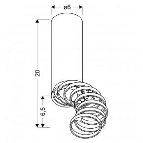 Oprawy-sufitowe - oprawa tuba sufitowa czarna regulowane pierścienie gu10 50w 2282732 candellux