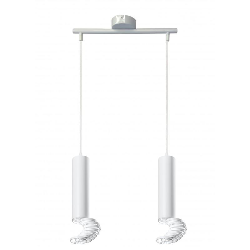 Lampy-sufitowe - lampa sufitowa wisząca dwie tuby gu10 2x50w biała 32-78636 candellux firmy Candellux