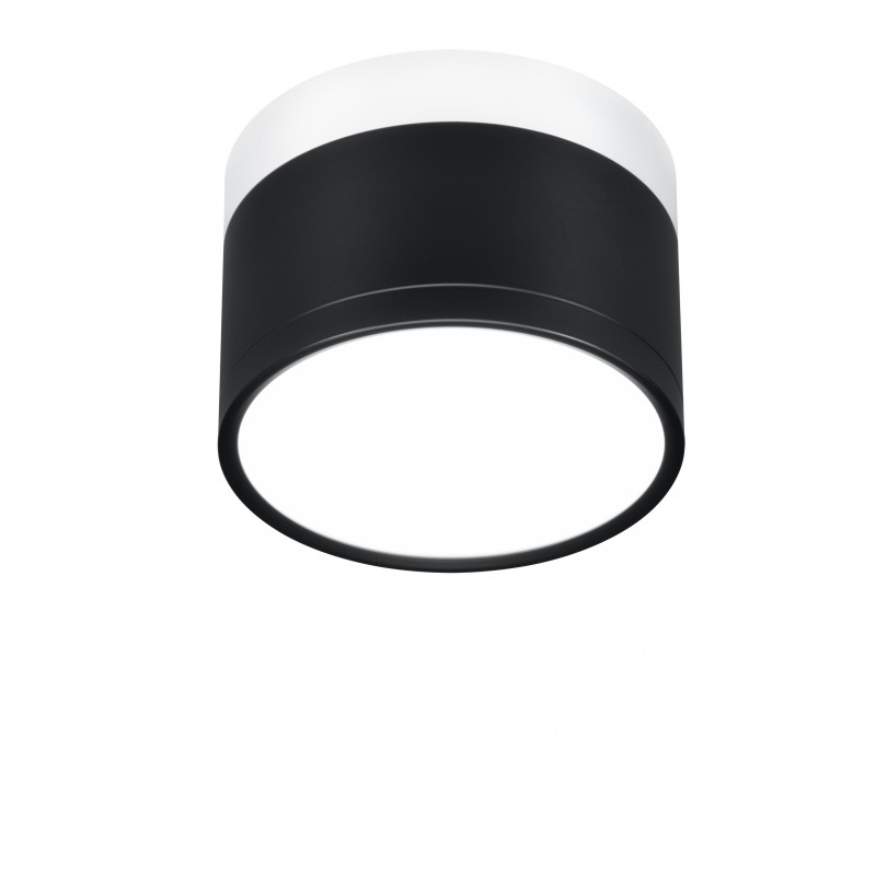 Oprawy-sufitowe - oprawa sufitowa tuba czarna z białą podstawą 9w 4000k 2273716 candellux firmy Candellux