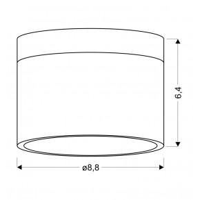 Oprawy-sufitowe - oprawa sufitowa tuba czarna z białą podstawą 9w 4000k 2273716 candellux