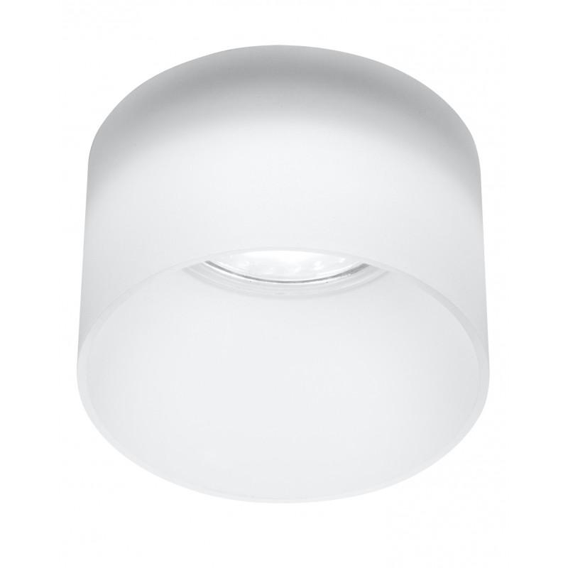 Oprawy-sufitowe - oprawa sufitowa biała szklana efekt mrożony gu10 50w 2273679 candellux firmy Candellux