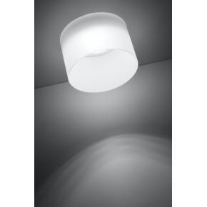 Oprawy-sufitowe - oprawa sufitowa biała szklana efekt mrożony gu10 50w 2273679 candellux