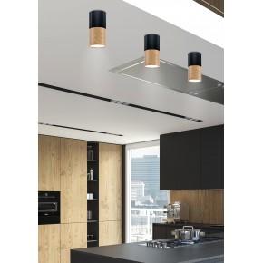 Oprawy-sufitowe - oprawa sufitowa tuba na żarówkę gu10 czarny/drewniany 2282862 candellux