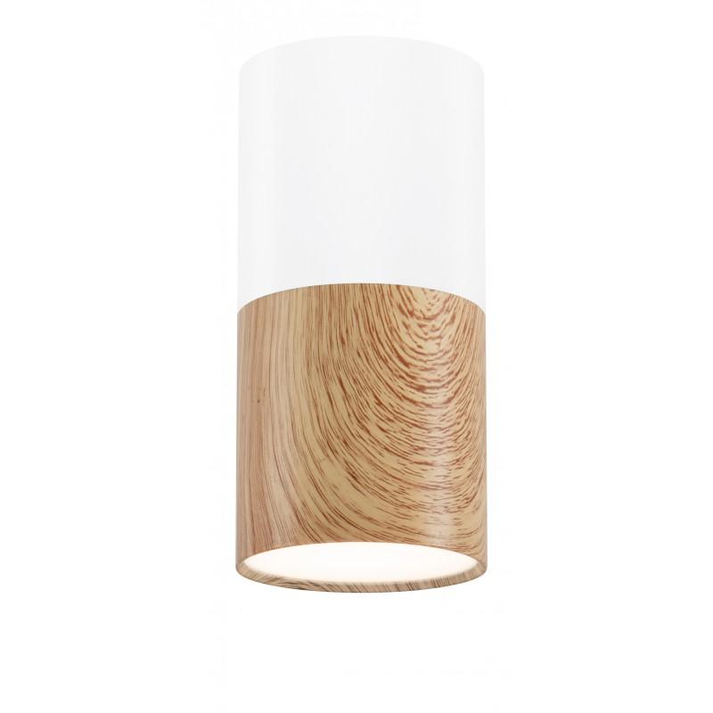 Oprawy-sufitowe - lampa sufitowa tuba biały/drewniany gu10 2273655 candellux firmy Candellux