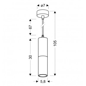 Lampy-sufitowe - wisząca lampa sufitowa w kolorze czarnym z dodatkiem złotego 15w gu10 31-77677 candellux