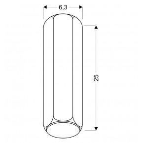 Oprawy-sufitowe - oprawa sufitowa biała tuba sześciobok długi gu10 25w 2282800 candellux