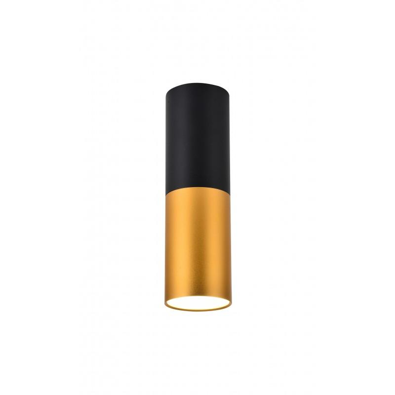 Oprawy-sufitowe - oprawa sufitowa w kolorze czarno-złotym na żarówkę gu10 15w 2281728 candellux firmy Candellux