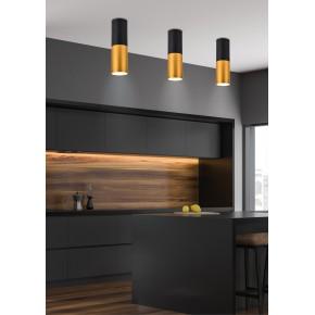 Oprawy-sufitowe - oprawa sufitowa w kolorze czarno-złotym na żarówkę gu10 15w 2281728 candellux