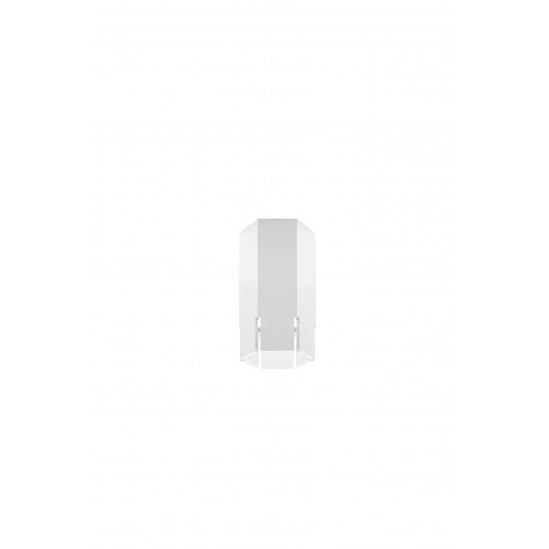 Oprawy-sufitowe - sufitowa lampa biała krótka tuba sześciobok gu10 25w 2282824 candellux firmy Candellux