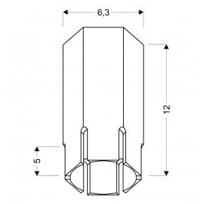 Oprawy-sufitowe - sufitowa lampa biała krótka tuba sześciobok gu10 25w 2282824 candellux