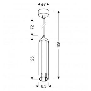 Lampy-sufitowe - biała lampa wisząca sufitowa w kształcie tuby sześciobok gu10 50w 31-77684 candellux
