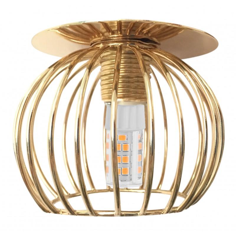 Lampy-sufitowe - dekoracyjna oprawa stropowa złoty koszyczek sk-93 g g9 40w 230v 2268750 candellux. firmy Candellux