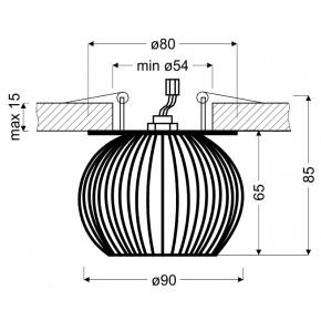 Lampy-sufitowe - dekoracyjna oprawa stropowa złoty koszyczek sk-93 g g9 40w 230v 2268750 candellux.