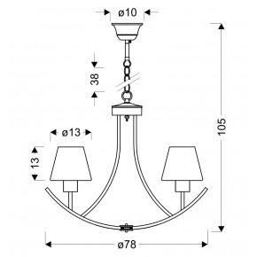 Lampy-sufitowe - czarno- biała lampa sufitowa żyrandol na 6 żarówek londyn 36-38845 candellux