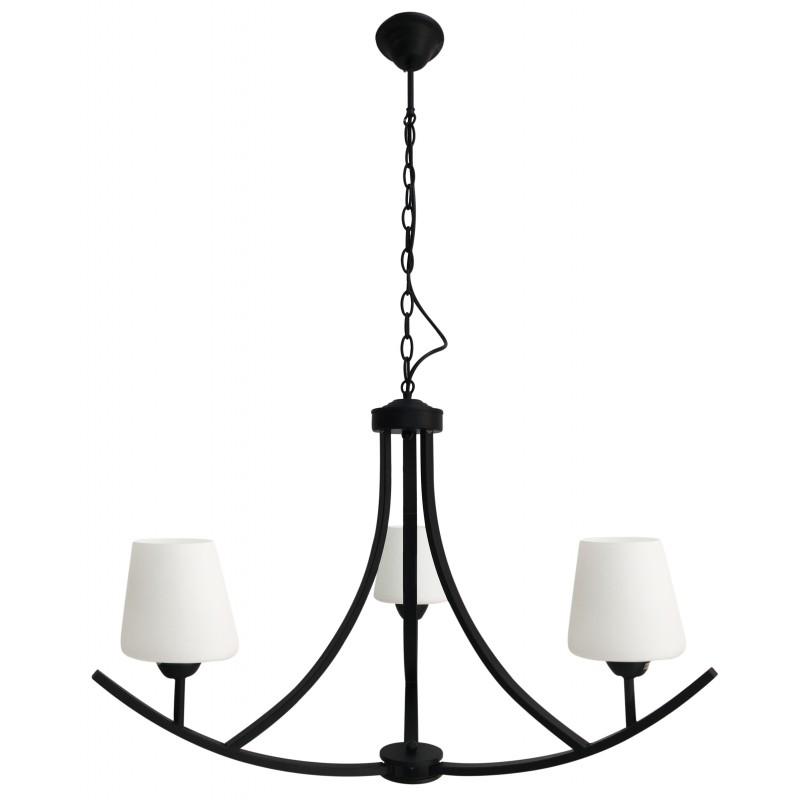 Lampy-sufitowe - wisząca lampa biało-czarna 3xe27 londyn 33-38708 candellux firmy Candellux