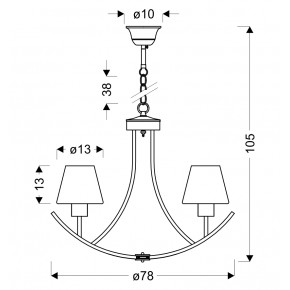 Lampy-sufitowe - wisząca lampa biało-czarna 3xe27 londyn 33-38708 candellux