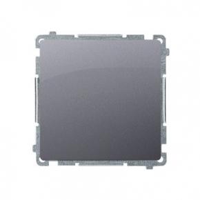 Przycisk pojedynczy zwierny bez piktogramu srebrny mat BMP1.01/43 Simon Basic Kontakt-Simon