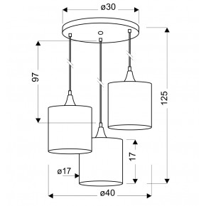 Lampy-sufitowe - lampa wisząca - talerz czarna + złoto wewnątrz kloszy 3x40w e14 long 33-73969 candellux