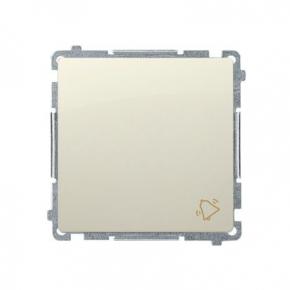 Beżowy przycisk dzwonek (moduł) szybkozłączka BMD1.01/12 Simon Basic Kontakt-Simon