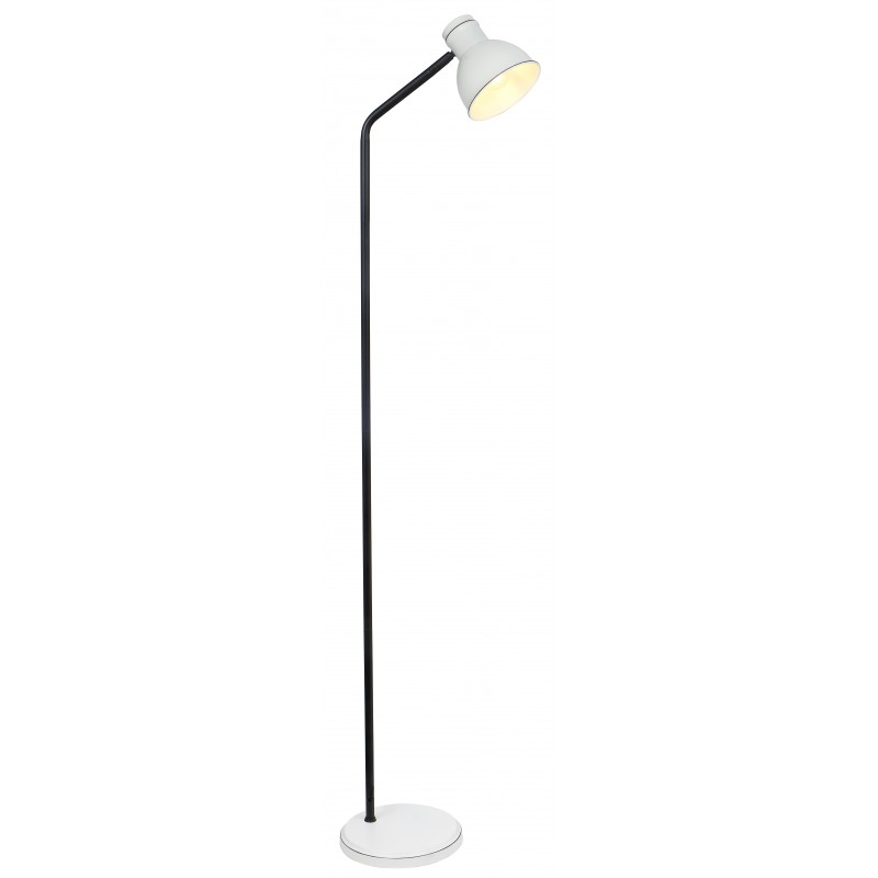 Lampy-stojace - prosta lampa podłogowa w kolorze biało-czarnym e14 40w zumba 51-72092 candellux firmy Candellux