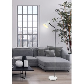 Lampy-stojace - prosta lampa podłogowa w kolorze biało-czarnym e14 40w zumba 51-72092 candellux