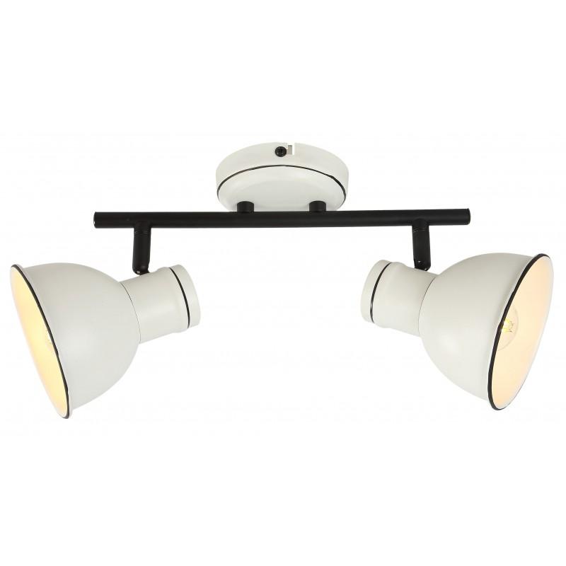 Oprawy-sufitowe - lampa ścienno-sufitowa podwójna w kolorze biało-czarnym e14 2x40w zumba 92-72139 candellux firmy Candellux
