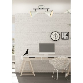 Oprawy-sufitowe - lampa ścienno-sufitowa podwójna w kolorze biało-czarnym e14 2x40w zumba 92-72139 candellux