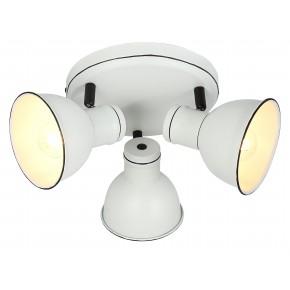 ZUMBA LAMPA SUFITOWA PLAFON 3X40W E14 BIAŁY+CZARNY