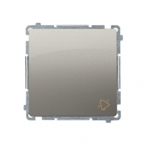Satynowy przycisk dzwonek (moduł) szybkozłączka BMD1.01/29 Simon Basic Kontakt-Simon