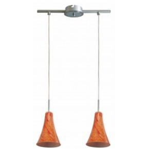 Lampy-sufitowe - chromowa podwójna lampa sufitowa e14 2x40w rufi 32-14651 candellux