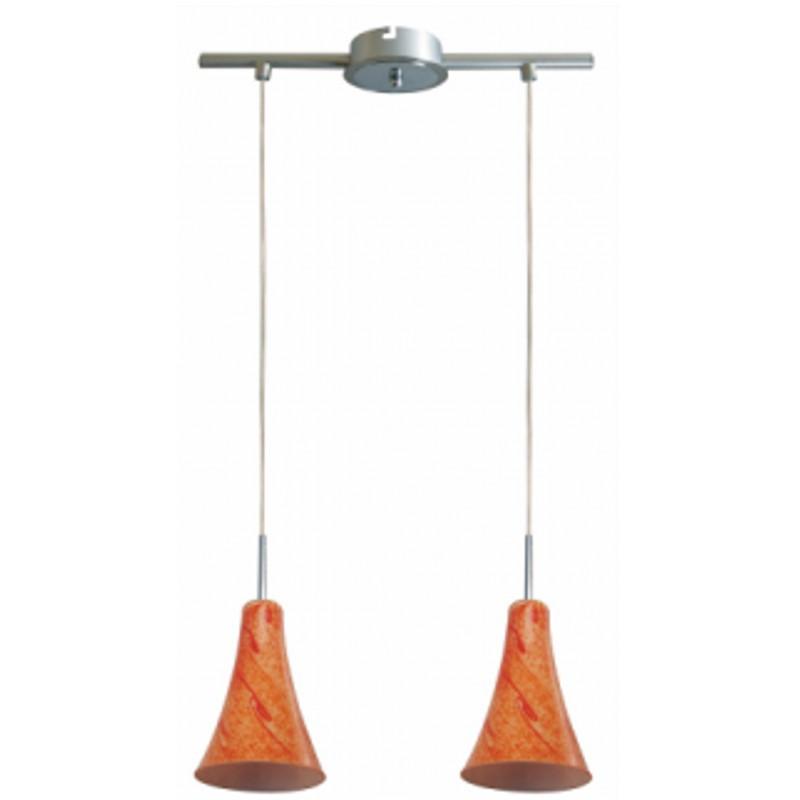 Lampy-sufitowe - chromowa podwójna lampa sufitowa e14 2x40w rufi 32-14651 candellux firmy Candellux