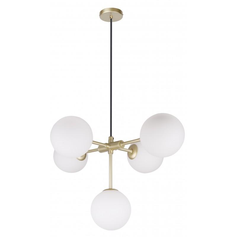 Lampy-sufitowe - lampa wisząca sufitowa na 5 żarówek g9 28w mati 35-73778 candellux firmy Candellux