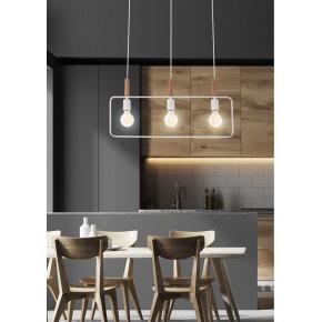 Lampy-sufitowe - biała lampa wisząca sufitowa w kolorze białym potrójna 3x60w e27 frame 33-73532 candellux