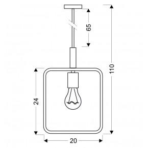Lampy-sufitowe - wiszącą lampa nad wyspę biała frame 31-73563 candellux