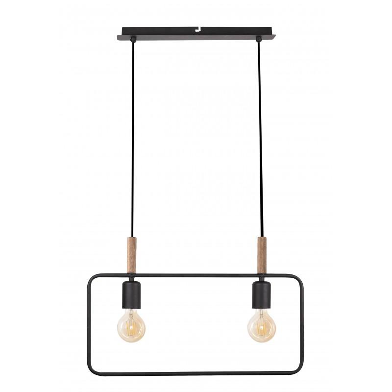 Lampy-sufitowe - lampa wisząca podwójna czarna 2x60w e27 frame 32-73518 candellux firmy Candellux