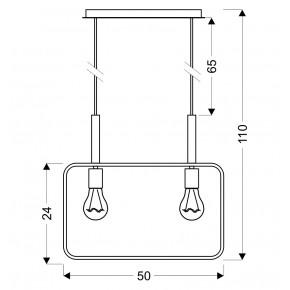 Lampy-sufitowe - lampa wisząca podwójna czarna 2x60w e27 frame 32-73518 candellux