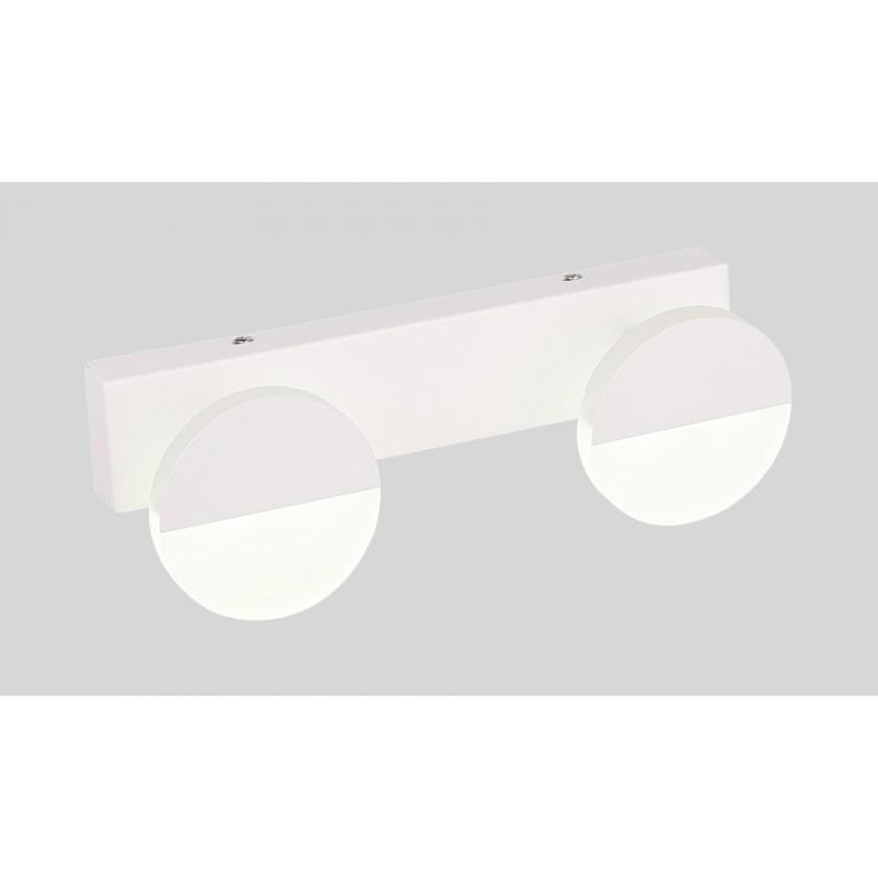 Kinkiety - biały kinkiet z wbudowanym energooszczędnym led-em 2x3w 4000k sing 22-72801 candellux firmy Candellux