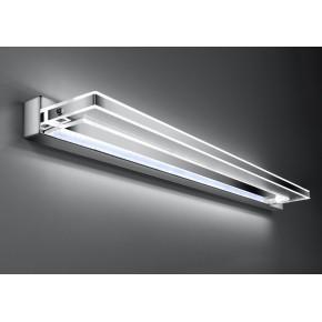 Lampy-sufitowe - lampa ścienno - sufitowa w chromowym kolorze led 6000k 80cm 14w chick 21-53251 candellux