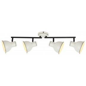 ZUMBA LAMPA SUFITOWA LISTWA 4X40W E14 BIAŁY+CZARNY