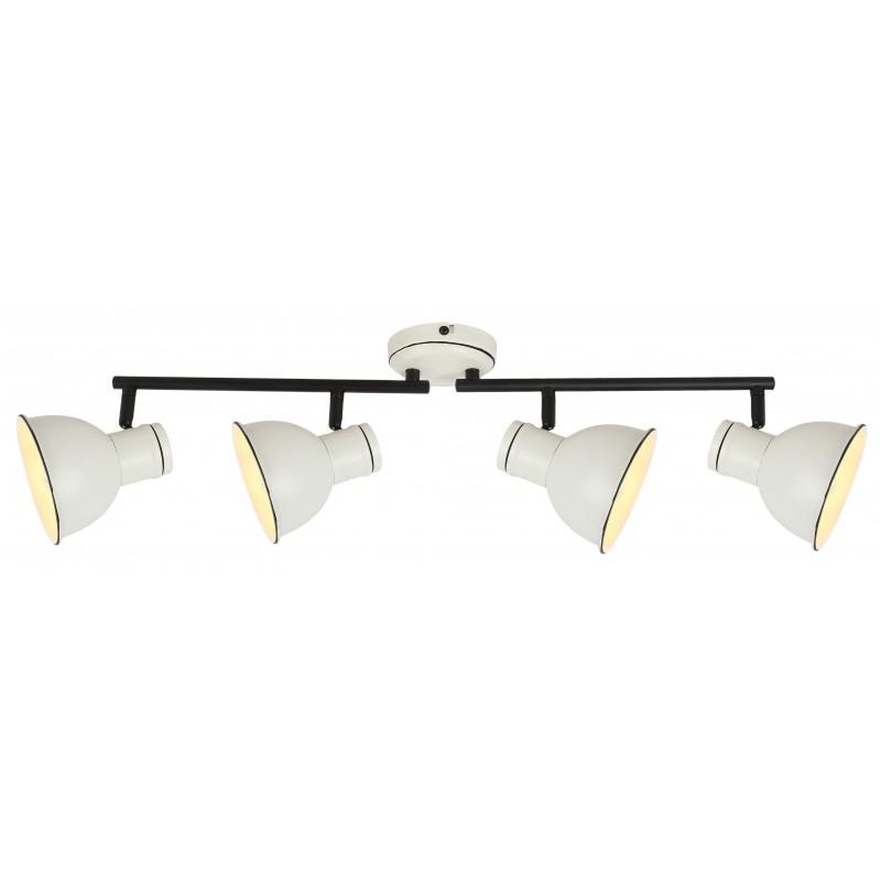 Oprawy-sufitowe - lampa sufitowa poczwórna listwa biały/czarny e14 4x40w zumba 94-72153 candellux firmy Candellux