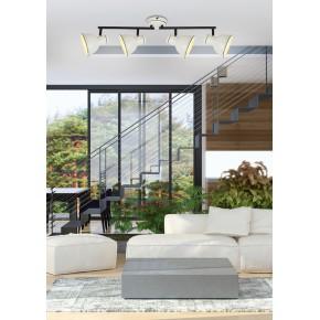 Oprawy-sufitowe - lampa sufitowa poczwórna listwa biały/czarny e14 4x40w zumba 94-72153 candellux