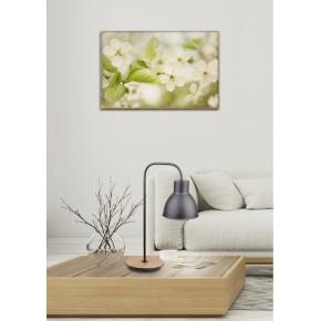 Lampki-biurkowe - elegancka lampka z drewnianą podstawą vario candellux 41-73488