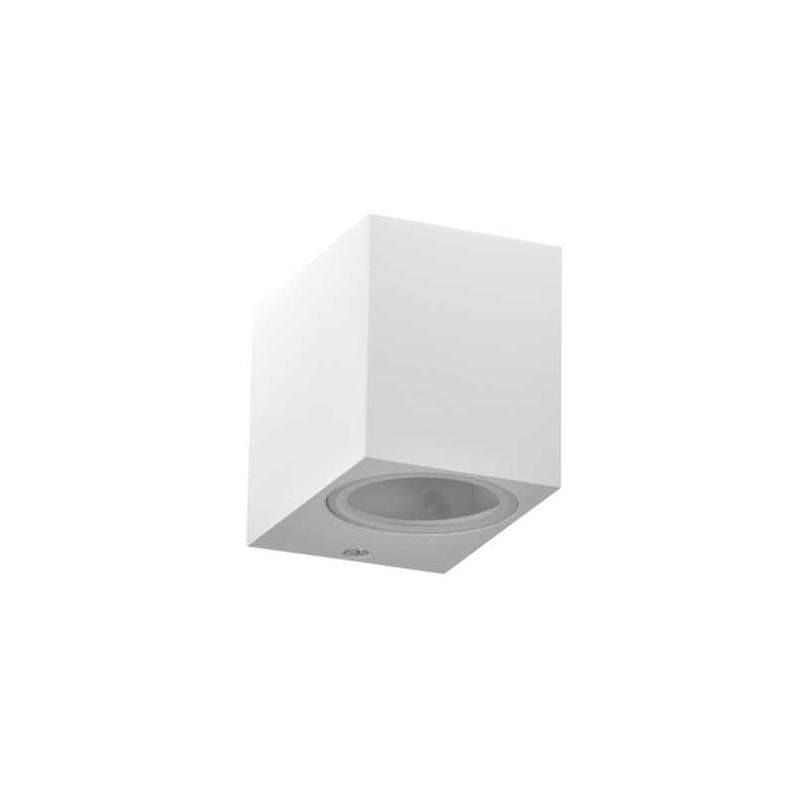 Kinkiety-ogrodowe - kinkiet elewacyjny kwadratowy skierowany w dół biały gu10 10w ip44 boston 313379 polux firmy POLUX