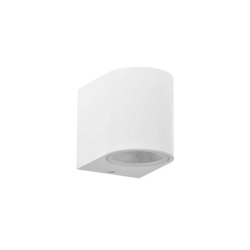 Kinkiety-ogrodowe - biały kinkiet elewacyjny owalny gu10 max. 10w led ip44 boston 313355 polux firmy POLUX