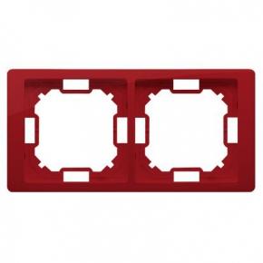 Ramka podwójna  rubinowa BMRC2/033 Simon Basic Neos Kontakt-Simon