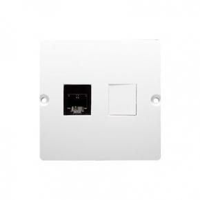 Białe gniazdo telefoniczne RJ11 (moduł) BMTF1.02/11 Simon Basic Kontakt-Simon