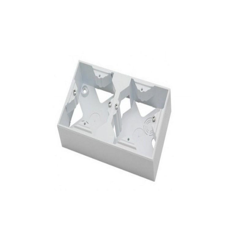 Puszki-natynkowe - puszka naścienna biała podwójna pnp-2g as ospel firmy OSPEL